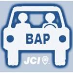 Logo de la commission 2014 BAP-mobile, auto-partage de véhicule, réalisée par la jeune chambre économique de beauvais (jce)