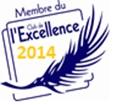 logo du club de l'excellence, concours interne à la Jeune Chambre Economique Française (JCEF) qui récompense les JCE-locales les plus dynamiques et les mieux structurées.