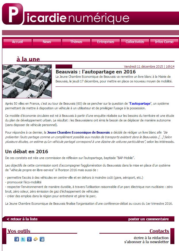 PicardieNumérique 11-12-2015 - BAP-Mobile