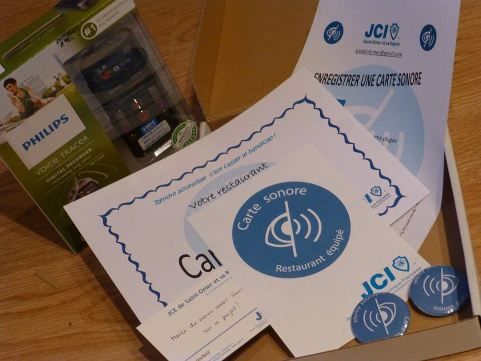 Lancement des cartes sonores dans les restaurants de beauvais