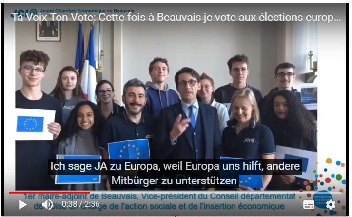 Cette fois à Beauvais je vote aux élections européennes
